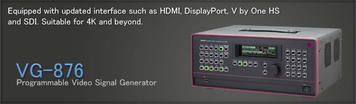 VG-876 Digital Video Generator | ASTRODESIGN Inc